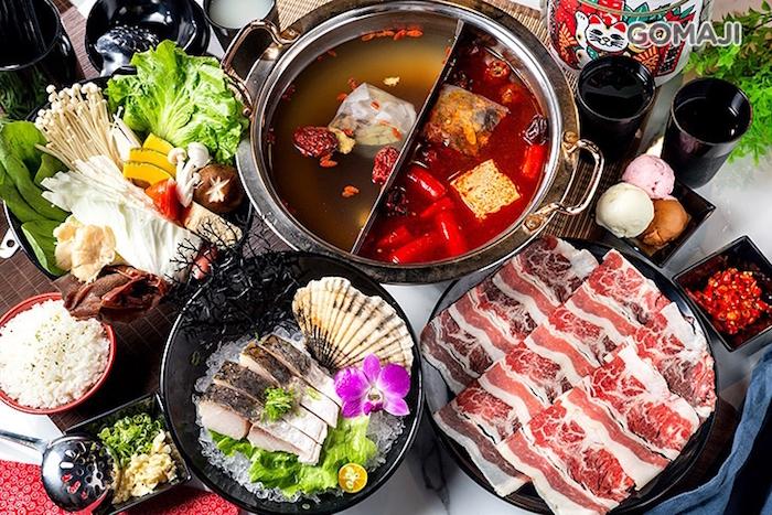餐點提供以海陸精緻火鍋與日式丼飯&和食為主