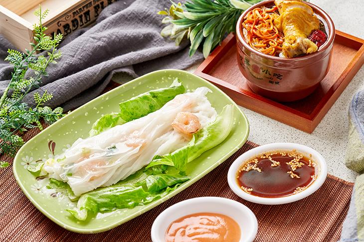 台北港式料理小吃推薦,快八秒港式腸粉店鮮蝦仁腸粉