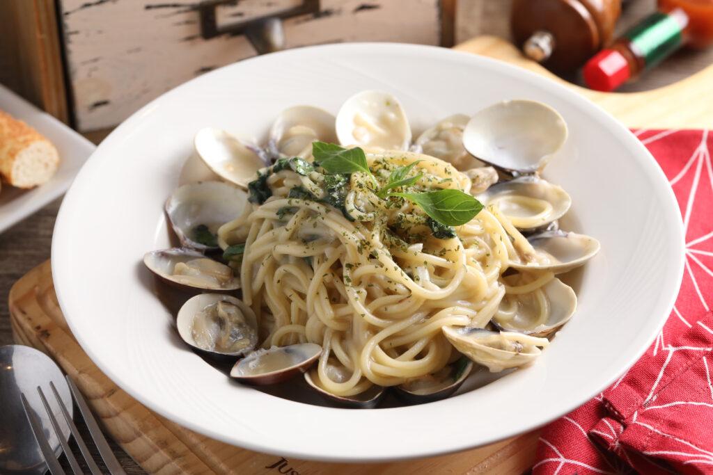 台北學生情侶約會餐廳推薦,NEO PASTA蒜味白酒蛤蜊義大利麵