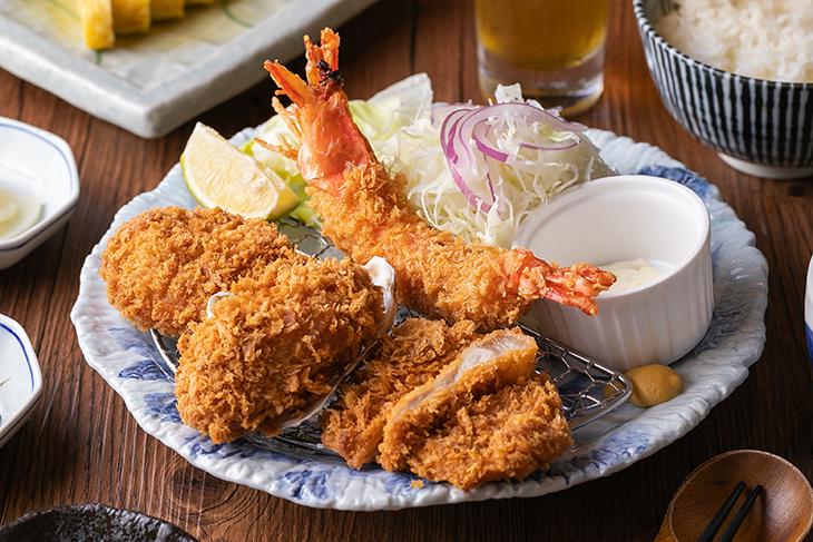 台北車站美食餐廳推薦,銀座杏子日式豬排台北凱薩店海陸四拼