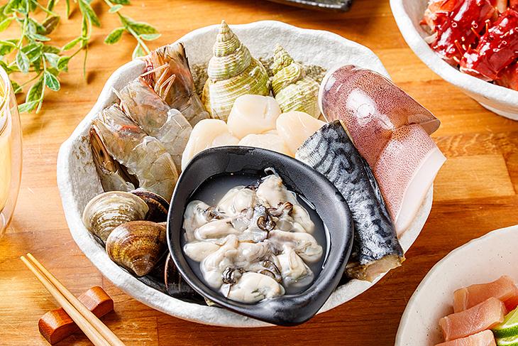 帝一帝王蟹頂級燒烤的綜合海鮮十分誘人