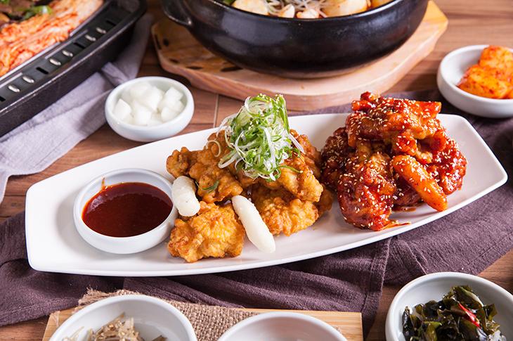 台北韓式料理推薦,水剌韓式餐廳半半炸雞
