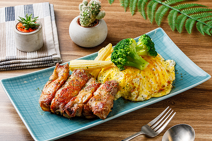 內湖美食 早午推薦,此刻 Cafe&Brunch迷迭香雞腿排餐
