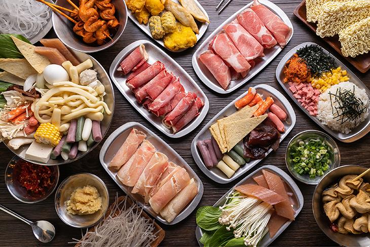 台北韓式料理 推薦,兩餐두끼韓國年糕火鍋肉類吃到飽