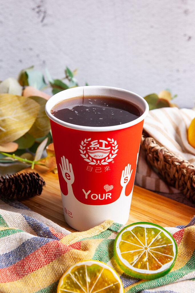 三重美食飲料店推薦,自己來紅茶鮮乳 三和夜市店檸檬古早味紅茶